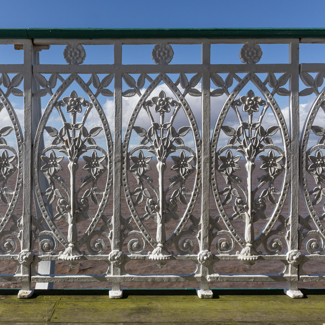 Cast iron floral balustrade I, Clevedon Pier, Avon.