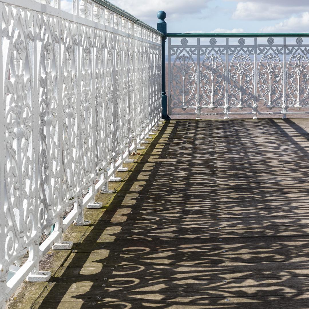 Cast iron floral balustrade II, Clevedon Pier, Avon.