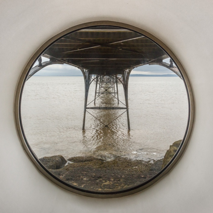 Underside of Clevedon Pier from the Porthole Room, Avon.