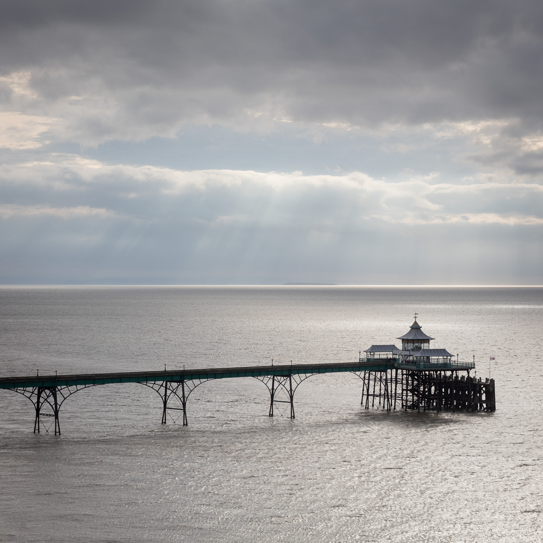 Clevedon Pier from the coast path, Avon.