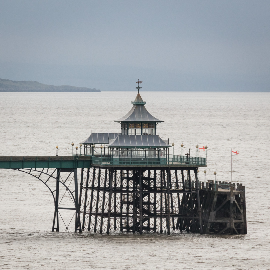 Clevedon Pier Pavilion and paddle steamer embarkation point, Avon.