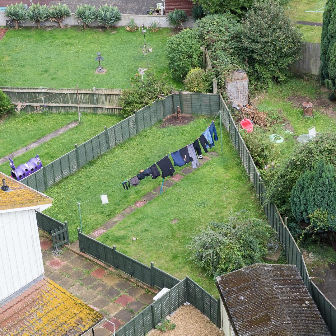 Back gardens, Shirehampton, Avon.