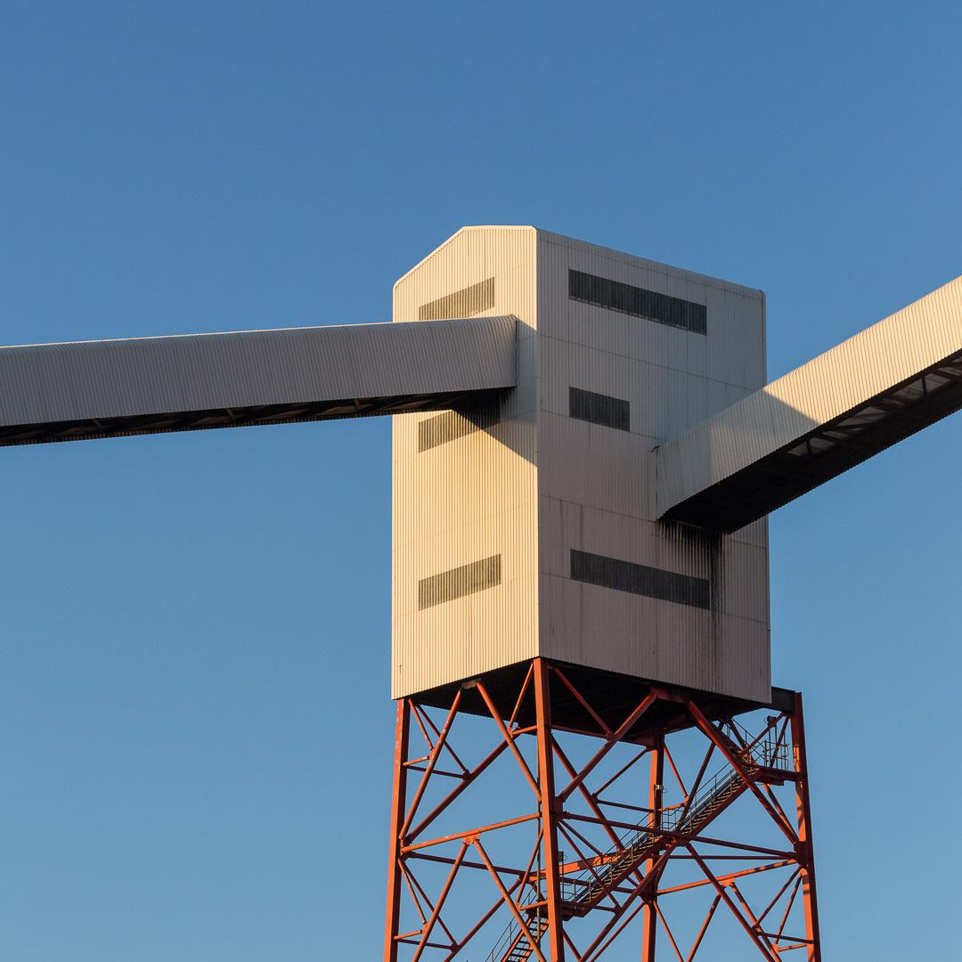Coal conveyor building, Bristol Bulk Handling Terminal, Avonmouth, Avon.