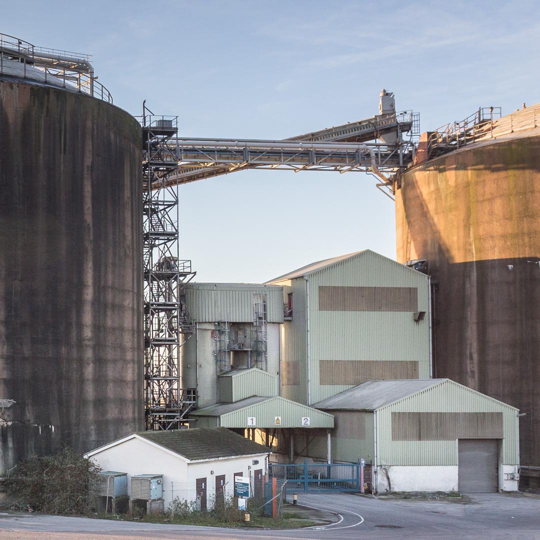 Coal silos, Bristol Bulk Handling Terminal, Avonmouth, Avon.