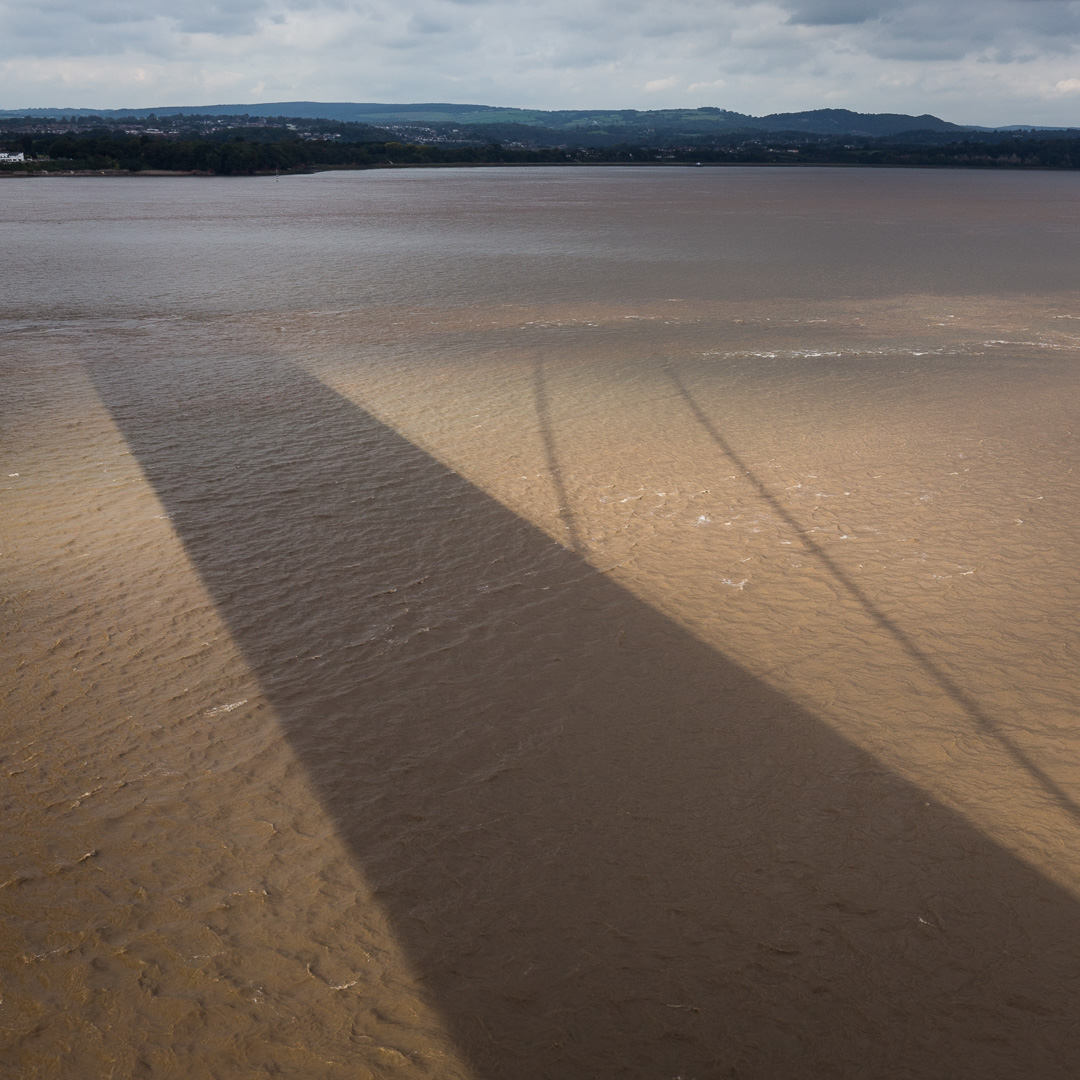 Severn Bridge shadow, Avon.