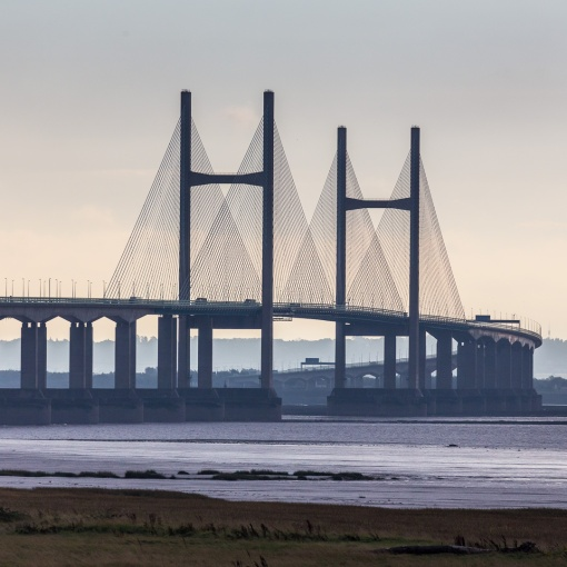 Second Severn Crossing from Caldicot, Gwent.