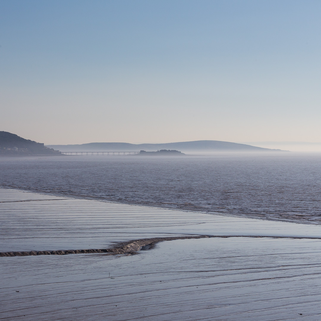 Birnbeck Island from Sand Bay, Brean down beyond, Avon.