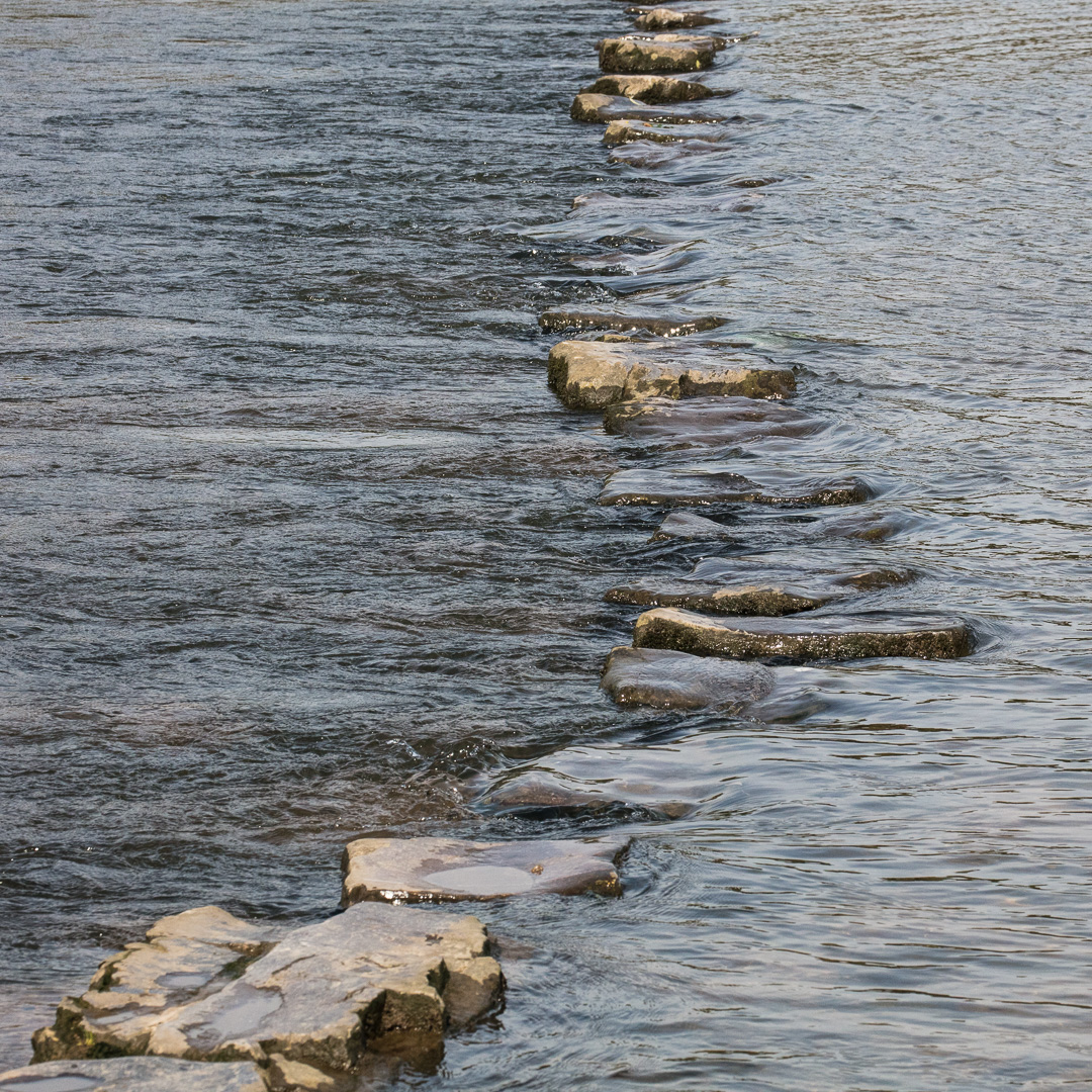 Stepping Stones, Ogmore River, Glamorgan.