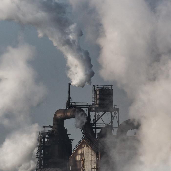 No.5 Blast furnace, Tata Steelworks, Port Talbot, Glamorgan.