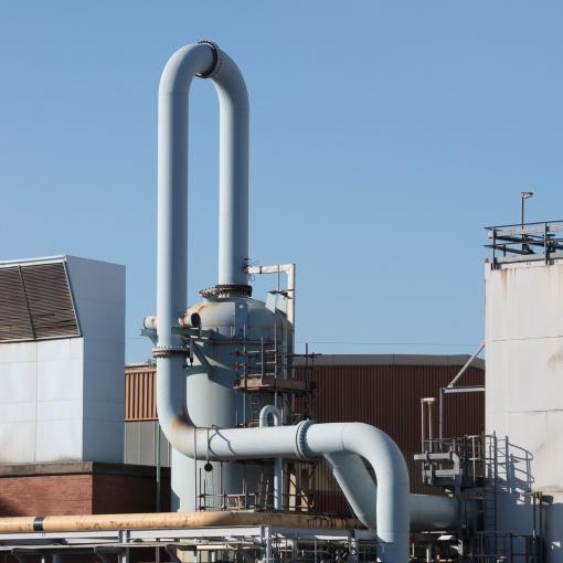 Pipe, BOC (British Oxygen Gases) site, Margam, Glamorgan.