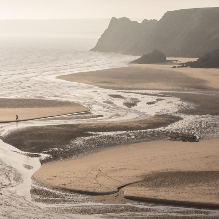 Threecliff Bay, Gower, Glamorgan.