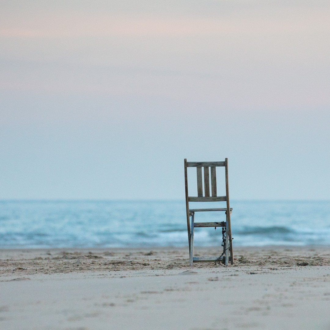 Abandoned chair, Oxwich Bay, Gower, Glamorgan.