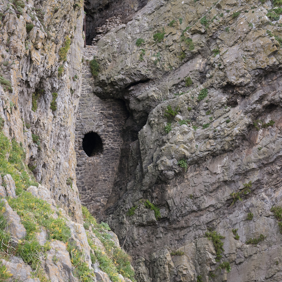 First glimpse of Culver Hole, Gower, Glamorgan.
