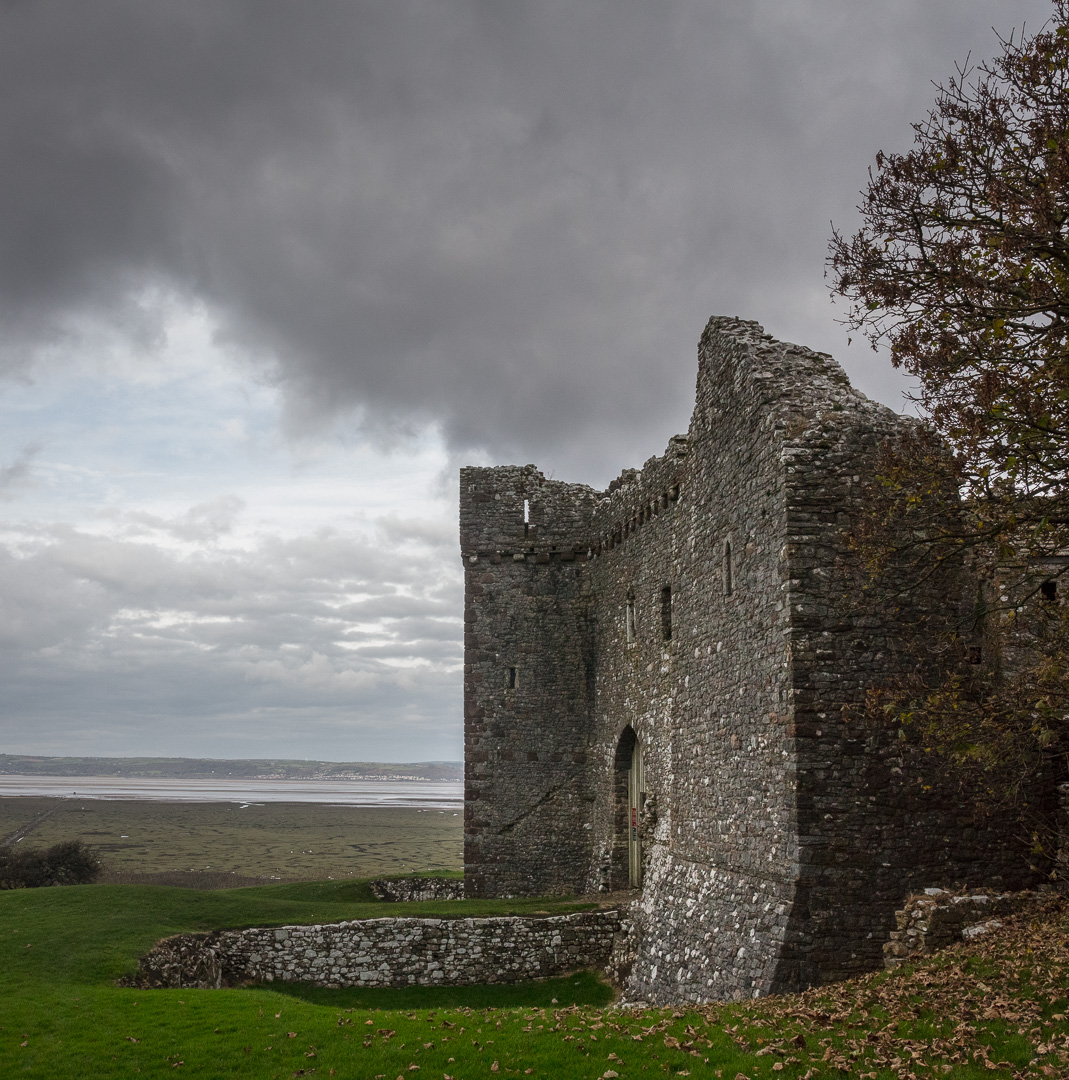 Weobley Castle, a 14th-century fortified manor house, Gower, Glamorgan.