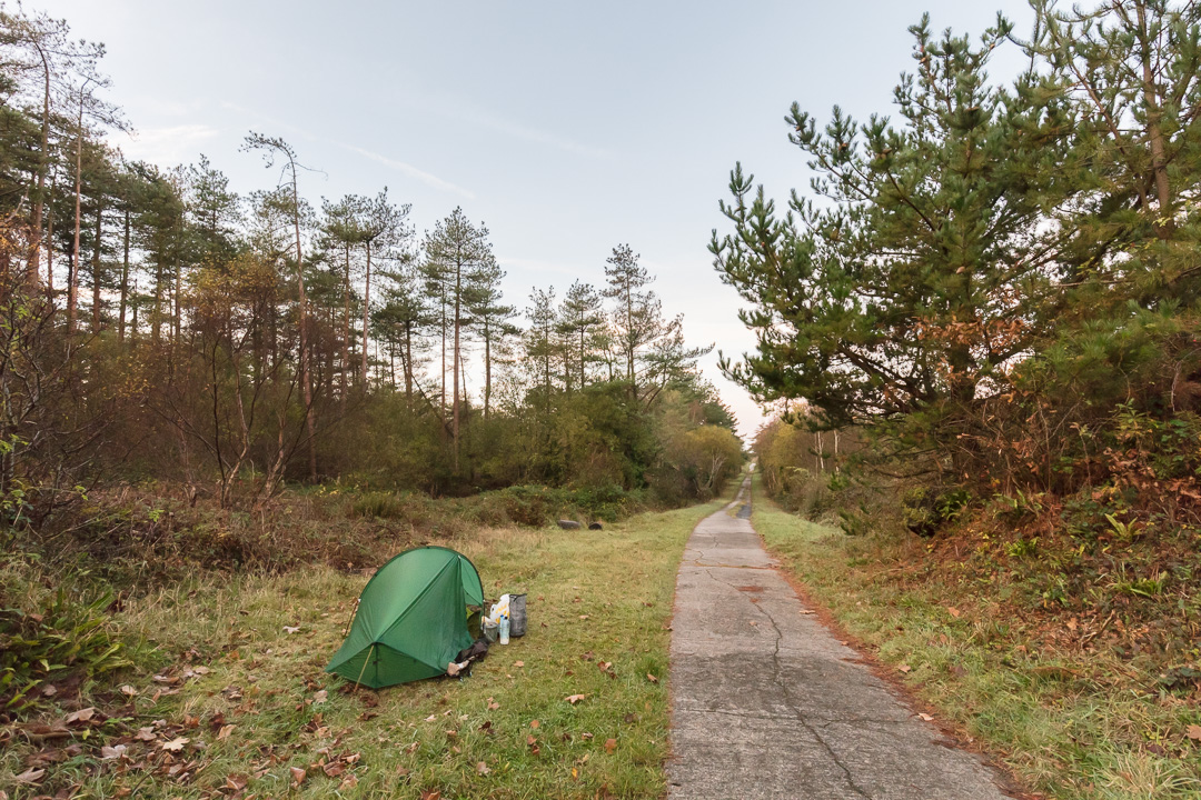 Camp, Pembrey Forest, Dyfed.
