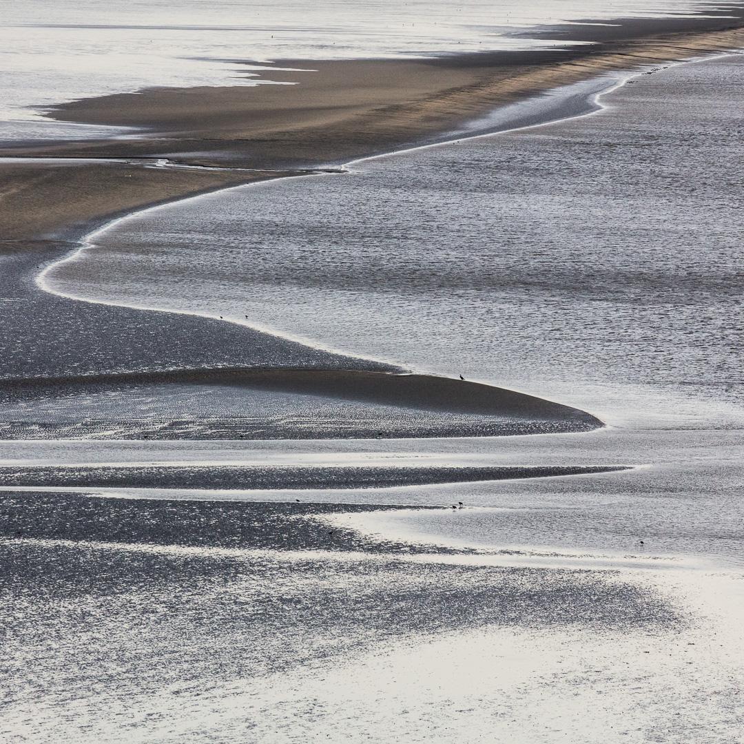 River Taf estuary, Laugharne, Dyfed.