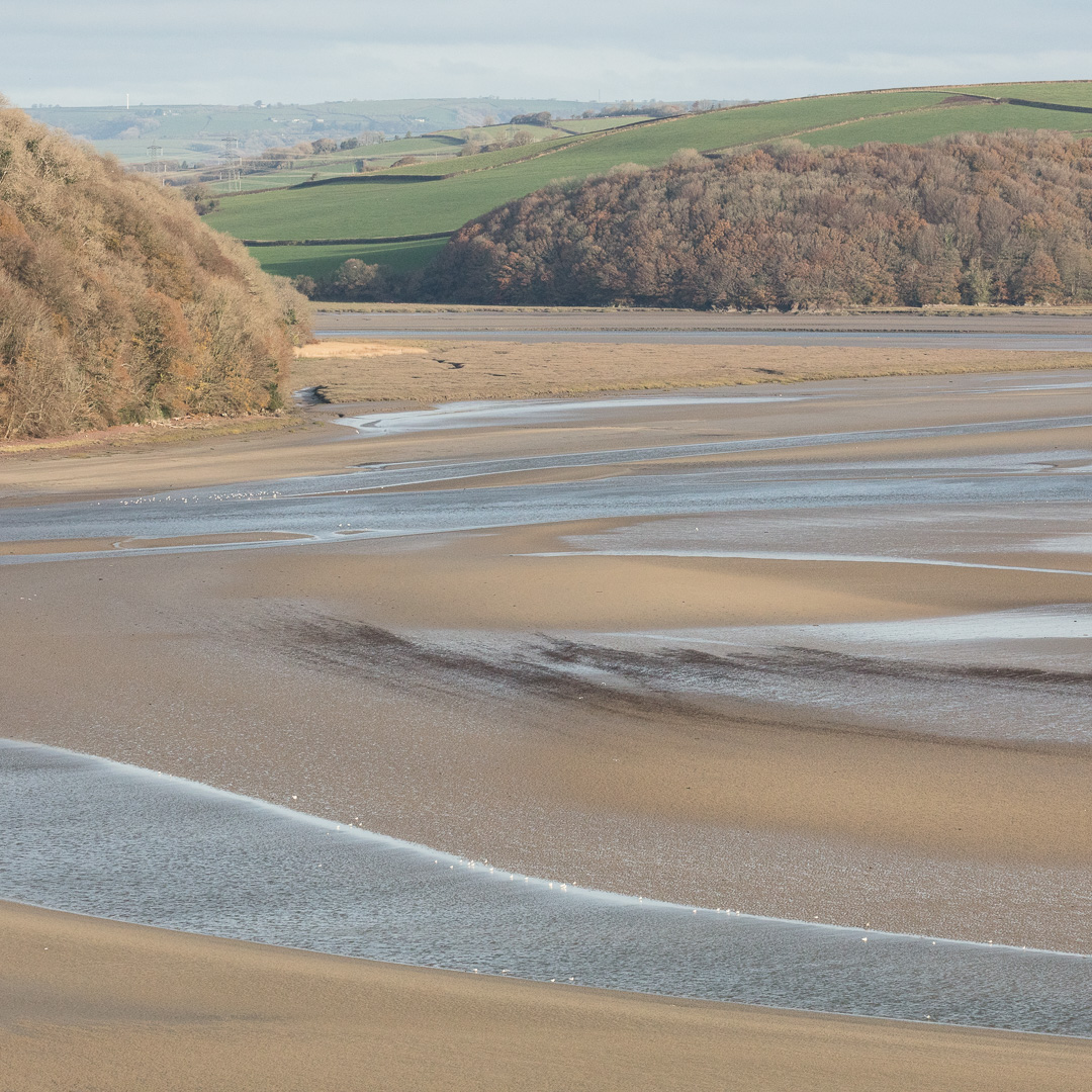Mouth of the River Taf, Laugharne, Dyfed.