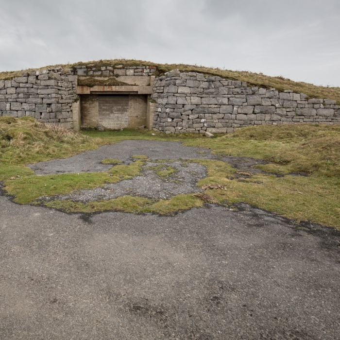 Protection bunker for WW2 mover system, Trevellan Downs Tank Range, Pembrokeshire.