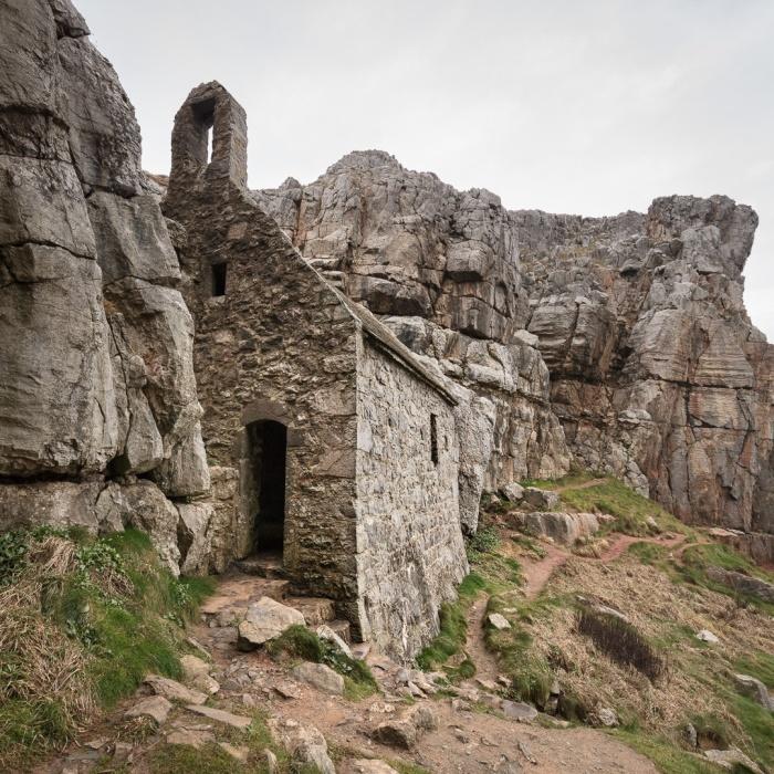 St Govan's Chapel, Pembrokeshire.