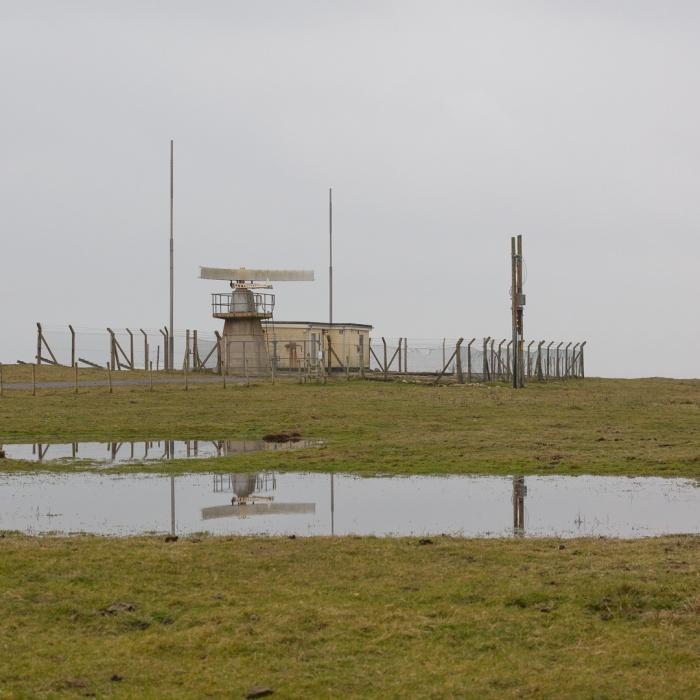 Radar Station at Castlehead, Castlemartin range East, Pembrokeshire.