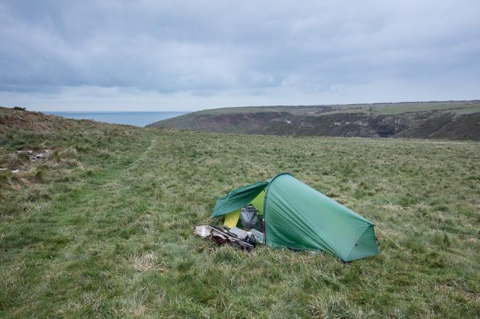 Camp, West Pickard Bay, Pembrokeshire.