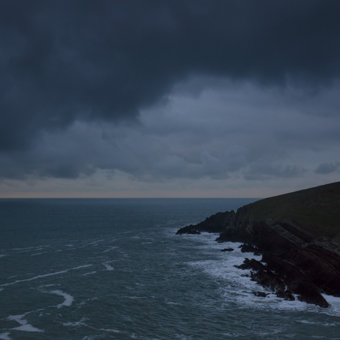 Winter dawn, Whitedole Bay, Pembrokeshire.