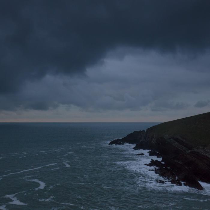 Winter dawn, Whitedole Bay, Pembrokeshire.