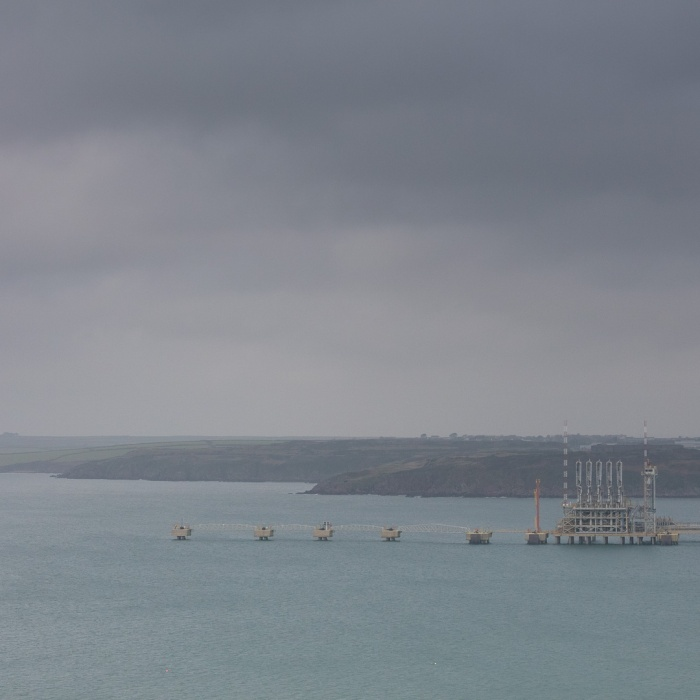 Milford Haven Jetty for delivery of Liquefied Natural Gas, South Hook Terminal, Pembrokeshire.