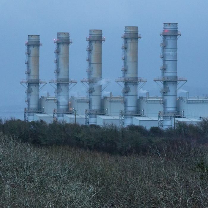 Pembroke natural gas-fired Power Station, the largest in Europe, Pembrokeshire.