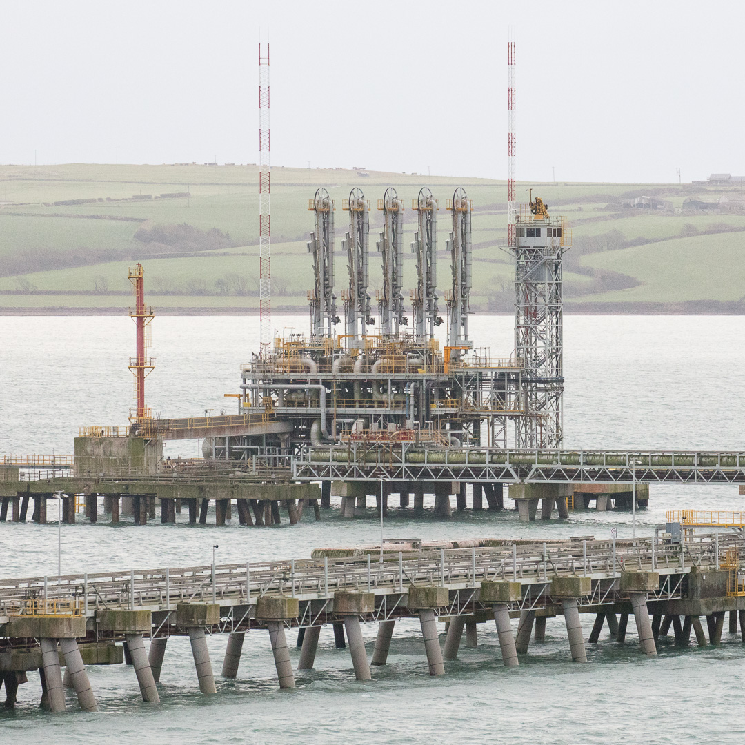 South Hook LNG terminal jetty, Milford Haven, Pembrokeshire.