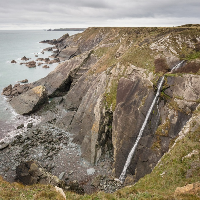 Waterfall, Watery bay, Marloes, Pembrokeshire.