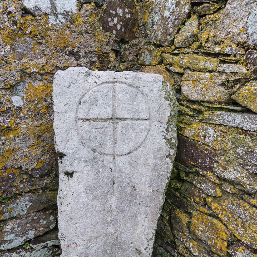 St Non's Cross, 7th to 9th century, St Non's Chapel, Pembrokeshire.