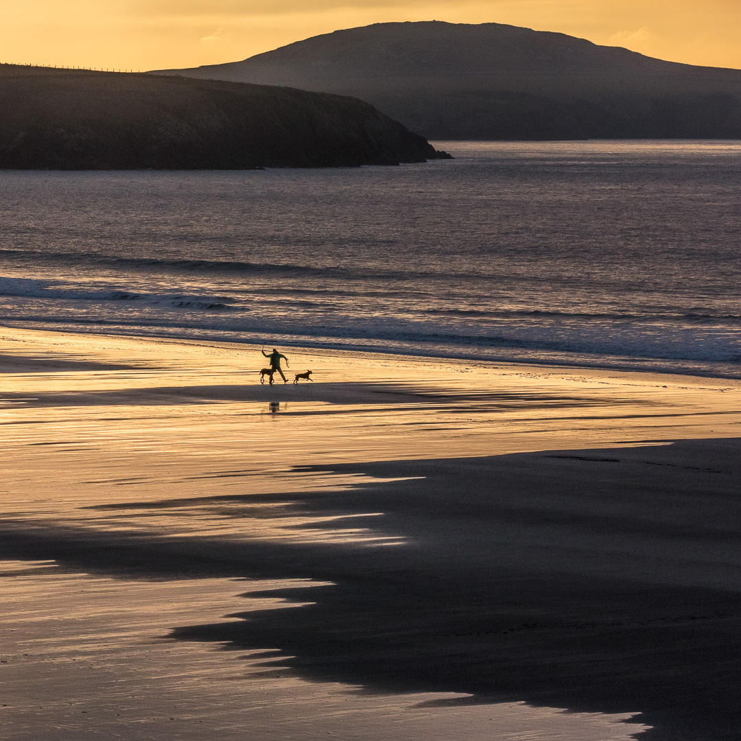 Last light, Whitesands Bay, Pembrokeshire.