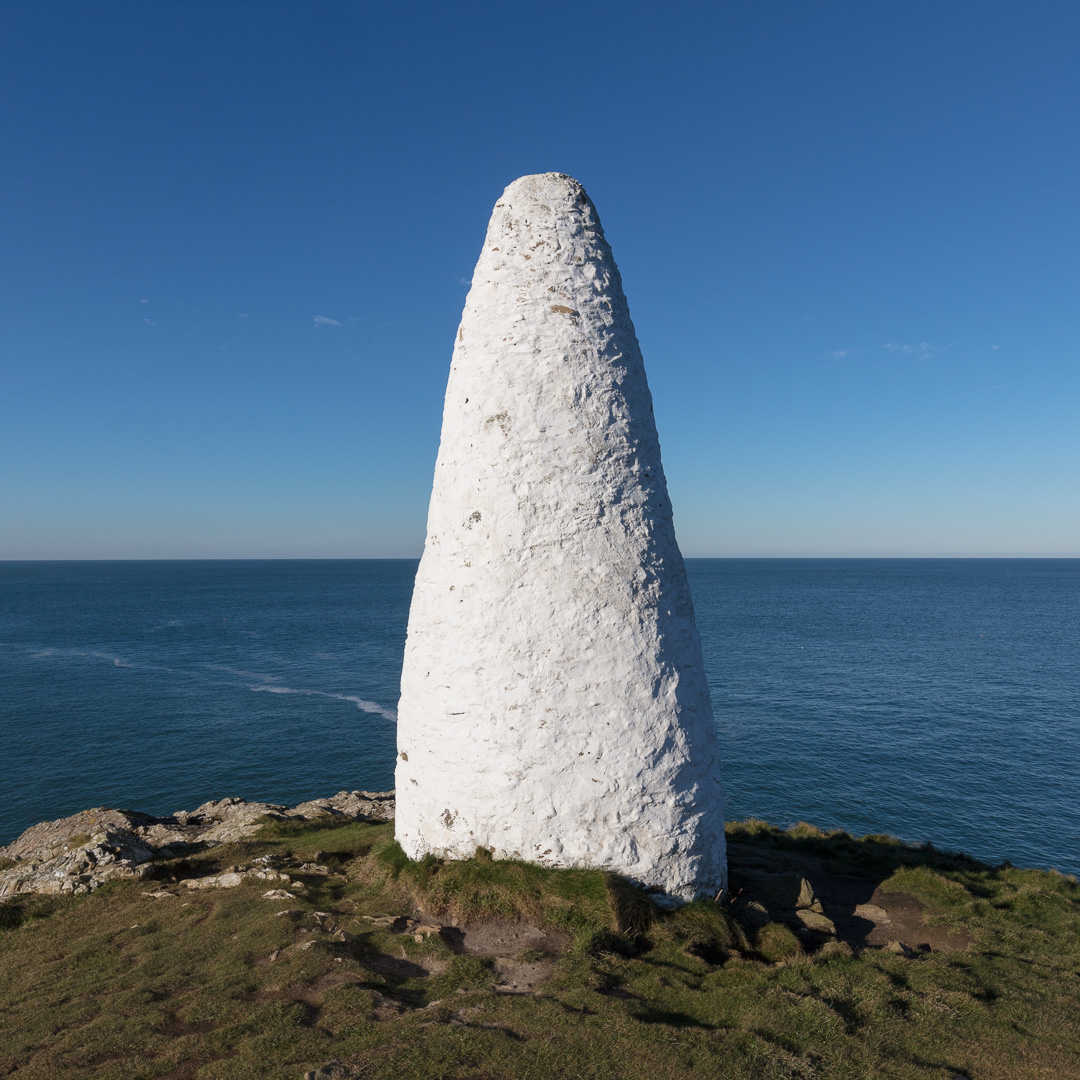 Northern navigation beacon, Porthgain, Pembrokeshire.