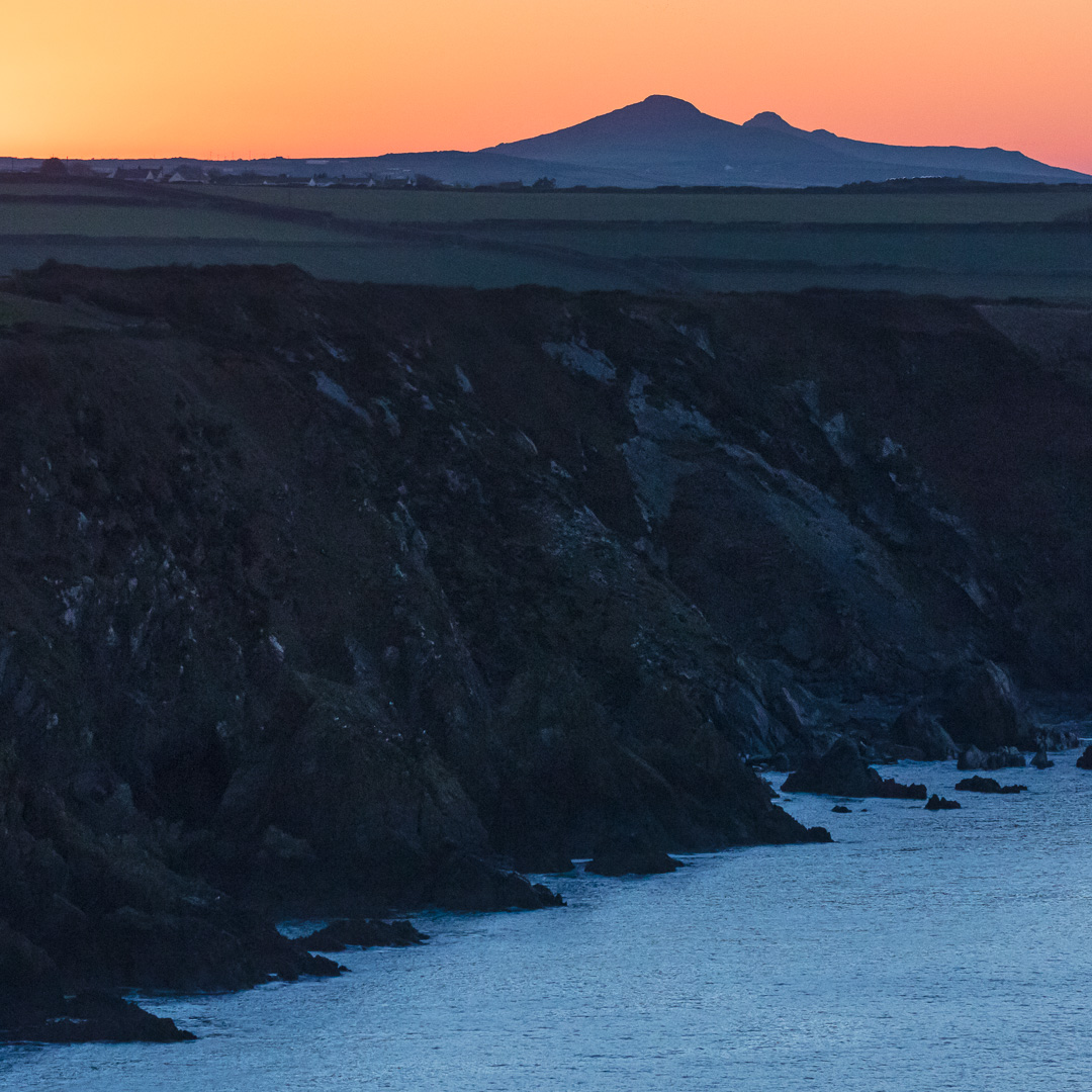Sunset over Carn Penberry, Pembrokeshire.