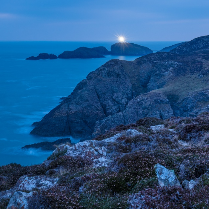 Strumble Head Lighthouse at Dawn, Pembrokeshire.