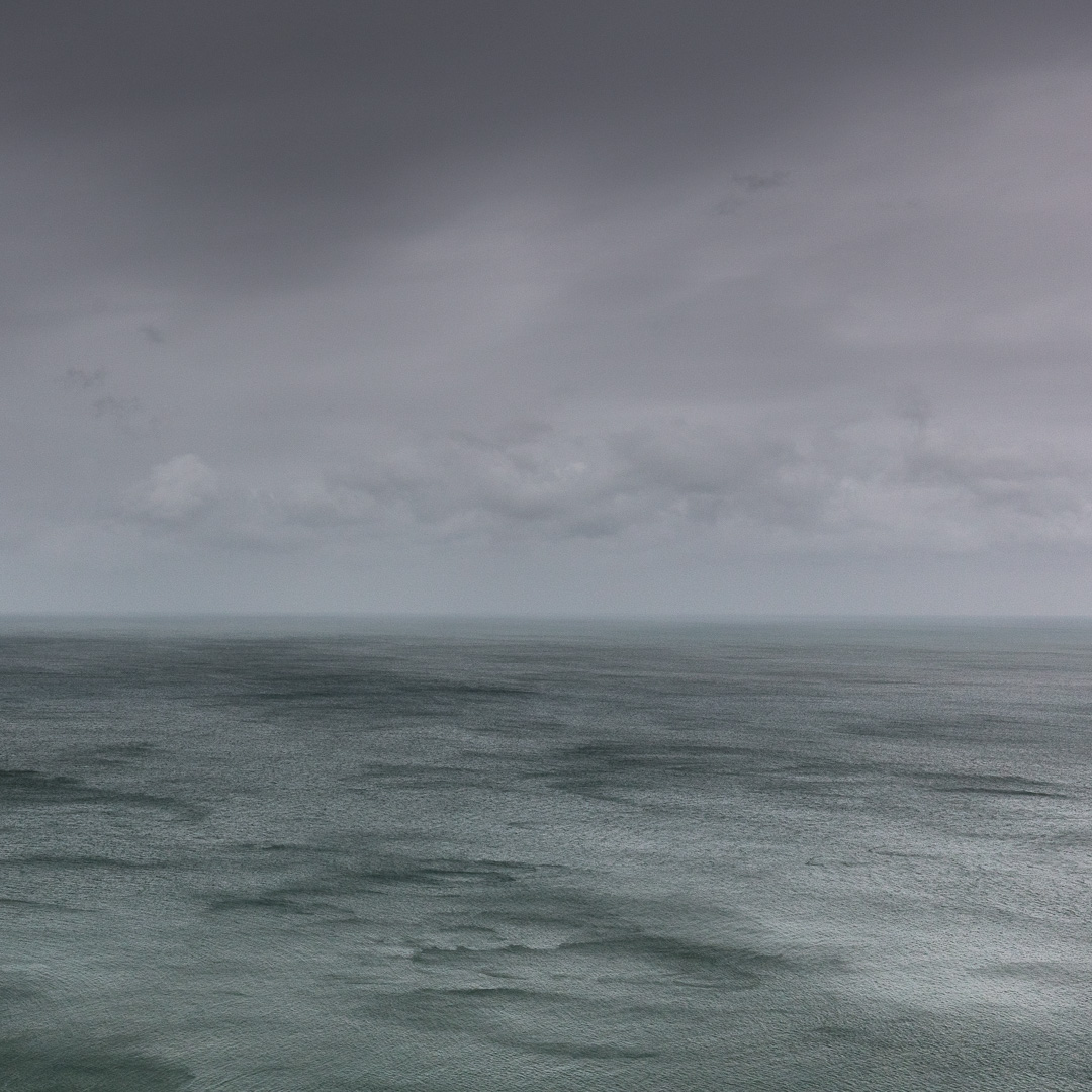 Seascape in gale, Dinas Head, Pembrokeshire.