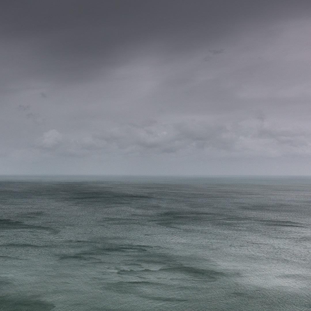 Seascape in gale, Dinas Head, Pembrokeshire.
