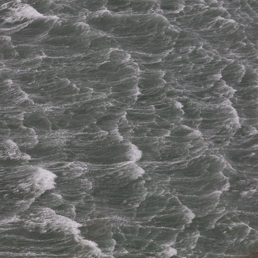 Seascape in gale, Godir Rhyg, Pembrokeshire