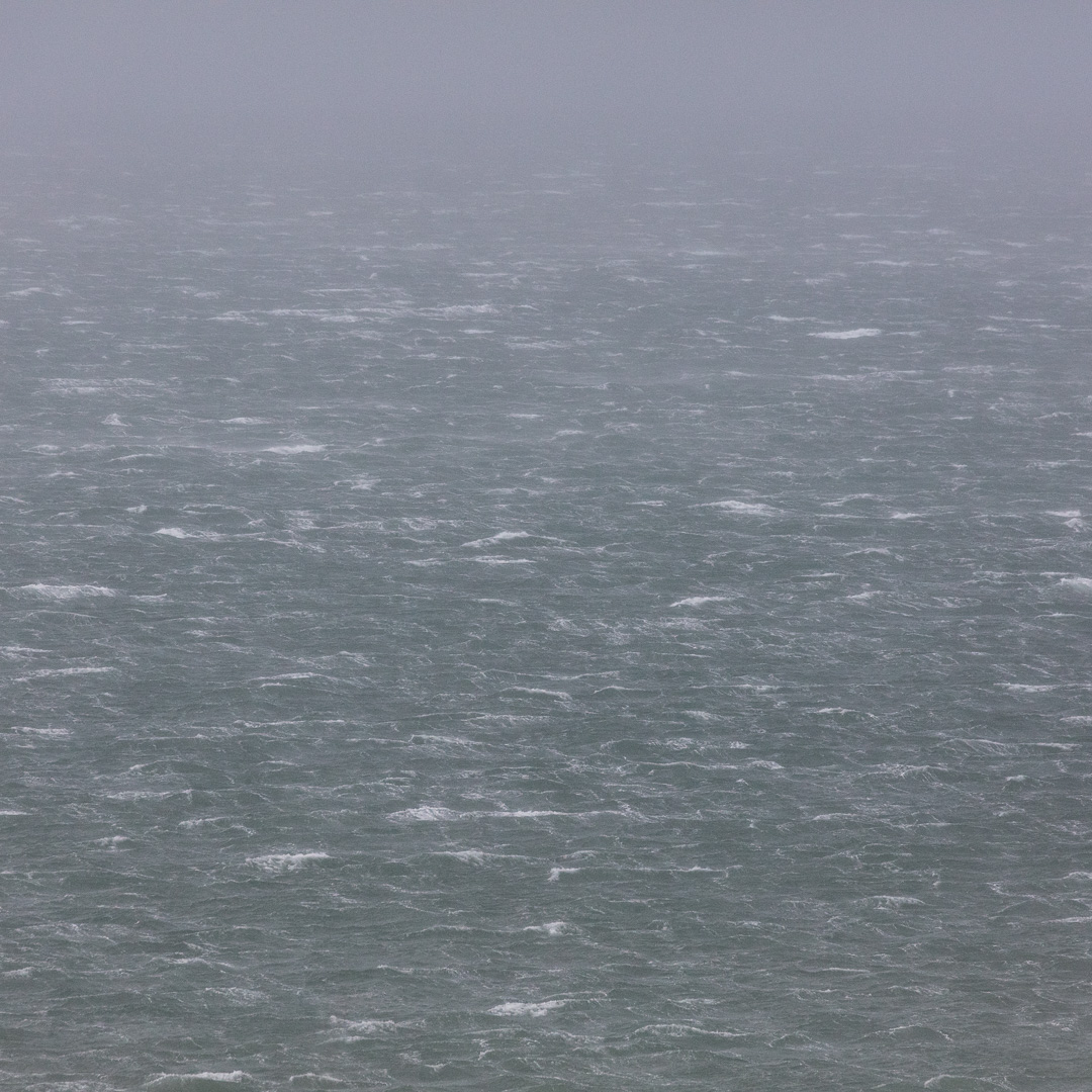 Seascape in gale, Newport Bay, Pembrokeshire.