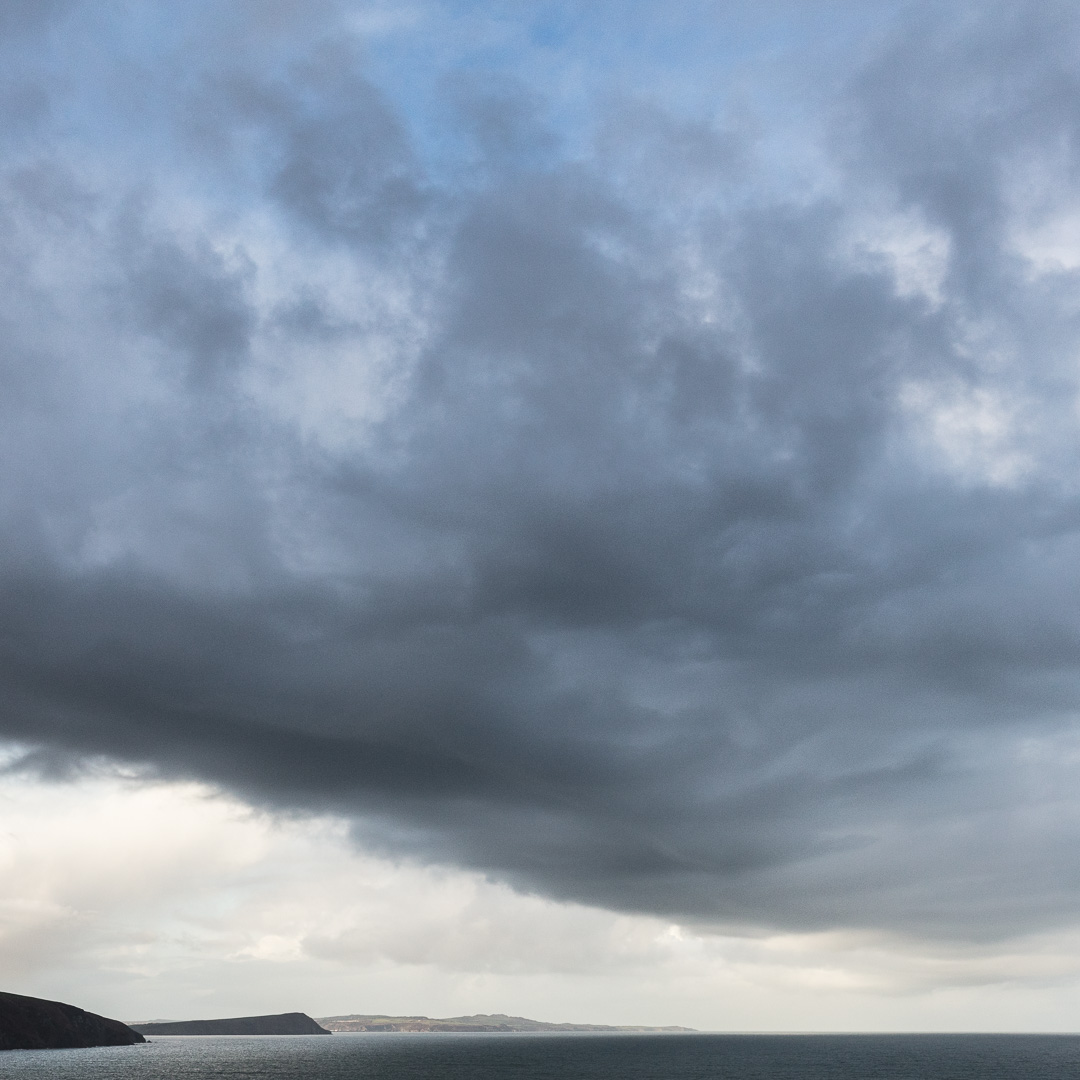 Cloudscape over Dinas Head, Pembrokeshire.