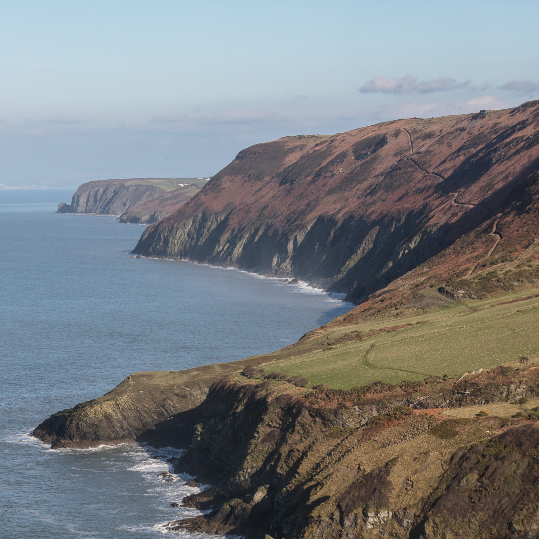 Coastal path towards Cwmtydu from the Urdd Centre, Ceredigion.