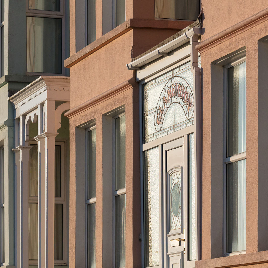 New Quay facades, Ceredigion.