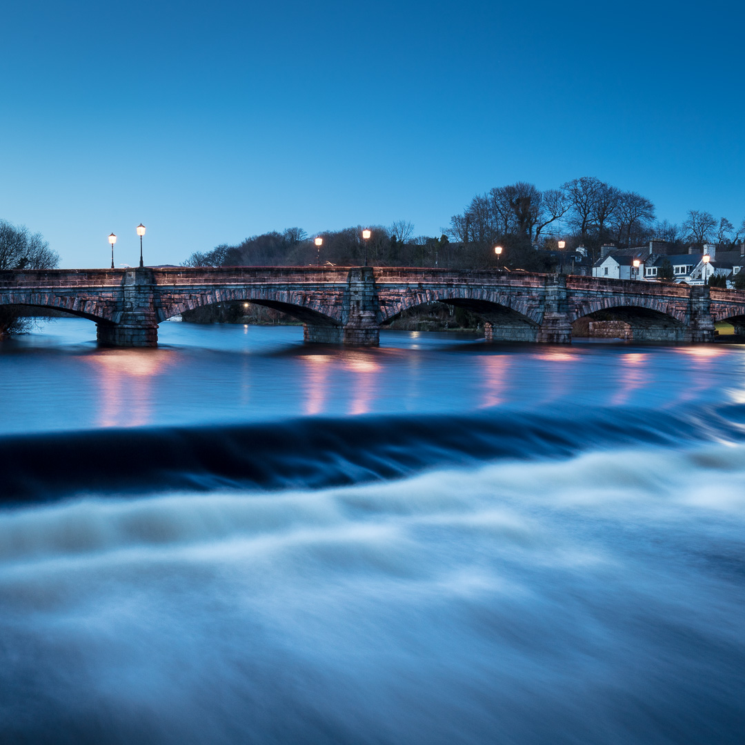 Bridge of Cree at dusk, Newton Stewart, Dumfries and Galloway, S